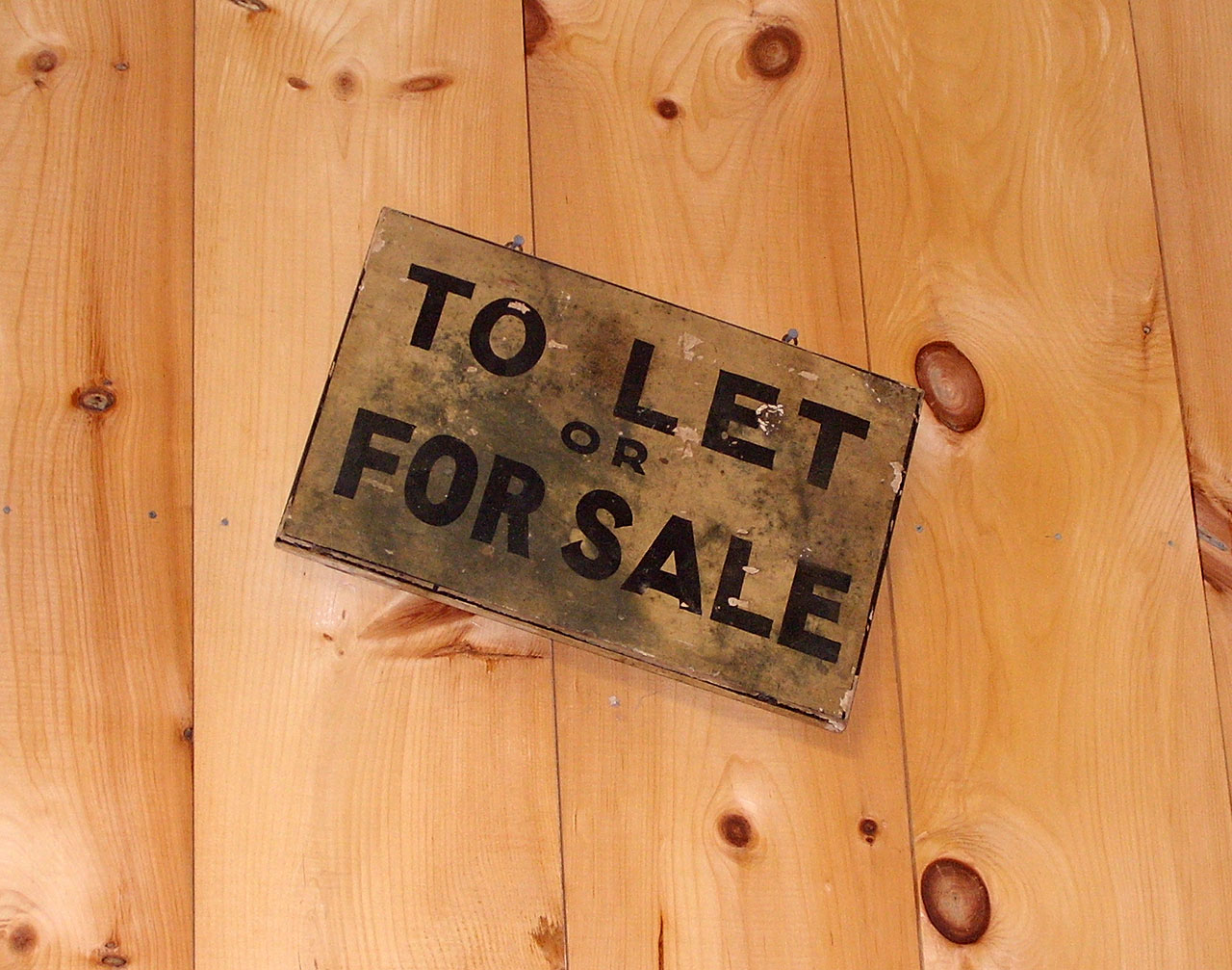for sale to let sign