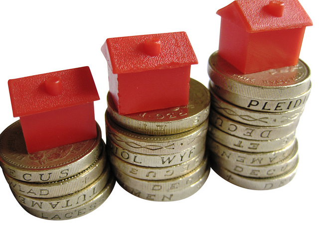 Image of houses and pound coins