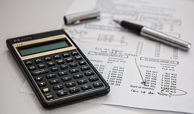 Image of calculator and paperwork