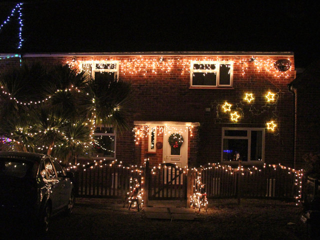 Image of house with Christmas decorations
